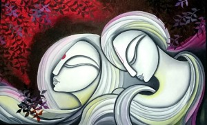couple-abstract-oil-painting-minal-patel