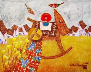 Childhood-memory-01-Vietnamese-Painting