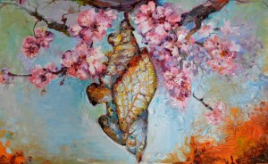 butterfly-bud-big-painting-the-methamorphoses-of-a-chrysalis-modern-art-floral-oil-soos-roxana-gabriela